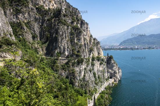 Ponale road at Lake Garda