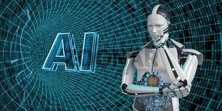 Thinking Humanoid Robot AI Data Tube