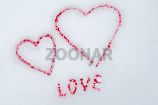 Valentine's day. Valentine's romantic love, eternal love. Friends Forever. Two Bloody Hearts.