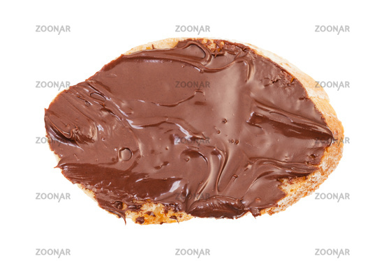 sandwich with bread and cocoa and hazelnut spread
