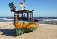 Fishing boat at the sea