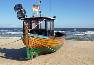Fischerboot am Meer