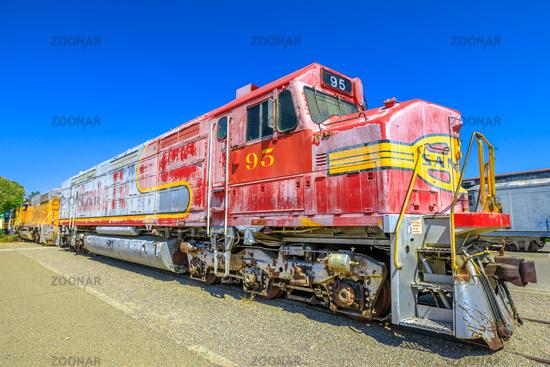 Santa Fe engine Barstow