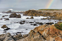 Rainbow over the Pacific Ocean near Pebble Beach