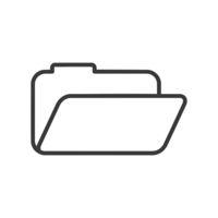 Open Folder Icon Vector