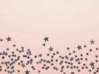 Pink Christmas background with stars