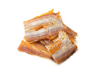 Dried fish fillets isolated