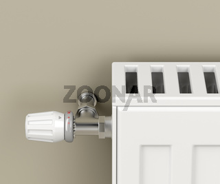 Heating radiator with thermostat valve