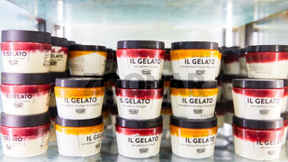 KÖLN, OKTOBER 2019: Il Gelato Eiscreme auf ANUGA Messe