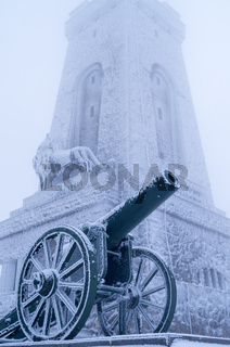 Old cannons. - ShipkaOld cannons. - Shipka, Gabrovo, Bulgaria. The Shipka Memorial is situated on th