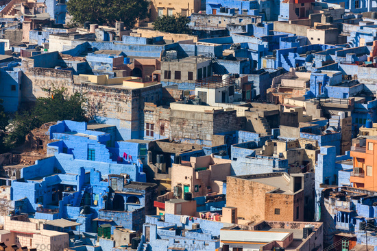 View of Jodhpur blue city. India