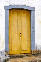 Old wooden colonial church door
