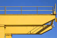 Detail of Crane in front of a blue sky