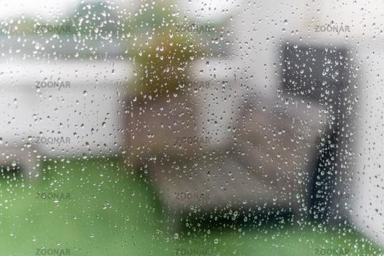 Water droplets on a window