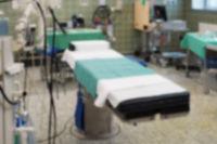 defocused operating room in a hospital