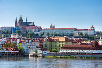 The Hradcany castle over the river Vltava in Prague