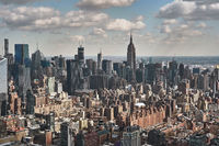Aerial photo of New York City and the Empire State Building