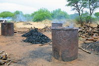 Charcoal production in Namibia