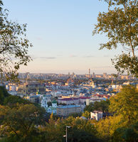View Kyiv trees skyline Ukraine
