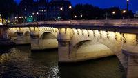 The bridge Pont Neuf in Paris at Night