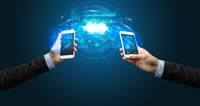 phones syncing through the cloud