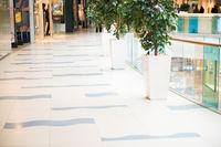 Futuristic interior of modern mall