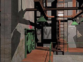 alte stählerne Fabrikanlage