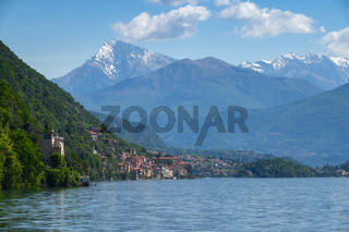 Como lake between mountains in Italy