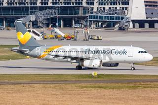 Thomas Cook Airbus A320 airplane Stuttgart airport