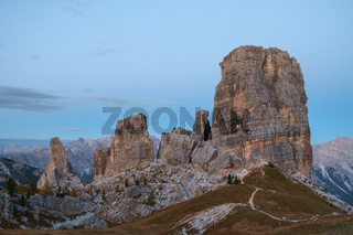 Cinque Torri rock formation Dolomite Alps