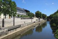 Hanover - Promenade on the river Leine, Germany