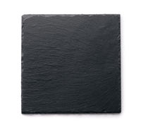 Top view of slate black stone plate
