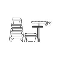 Window Cleaning Tools Icon Vector
