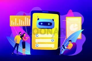Chatbot customer service concept vector illustration.