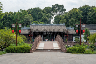Stone bridge and traditional chinese building