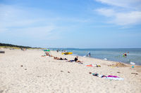 People at Tisvildleje Beach, Denmark
