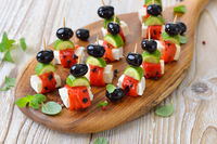 Greek finger food with feta cheese