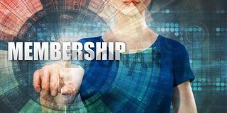 Woman Accessing Membership