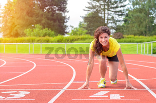 Young Woman in a Start Position