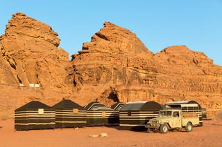 in jordan the desert and the bedouin   tent