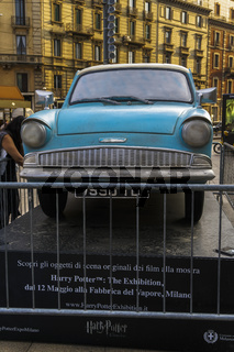 Milan, Italy Harry Potter The Exhibition public display.