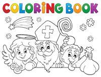 Coloring book Saint Nicholas Day topic 1