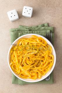 Creamy Pumpkin Alfredo Fettuccine Pasta