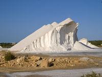 Salt mountain in Mallorca Island