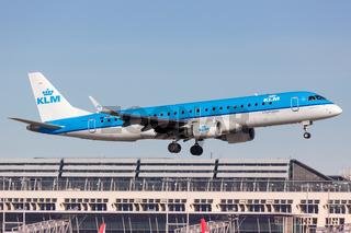 KLM cityhopper Embraer 190 airplane Stuttgart airport