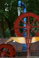 Mill wheel made of metal