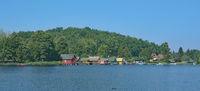 idyllic Landscape in Mecklenburg Lake district,Germany