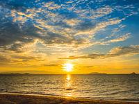 Beach sunrise in the morning. Thailand.