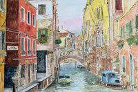 Venice with typical houses
