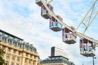 Ferris wheel, architecture, downtown, Brussels